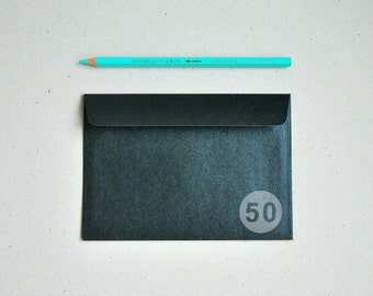 "50 4x6 Metallic Black Envelopes for A6 cards - (Pack of 50) - The actual size is 4 1/2""x6 3/8"""