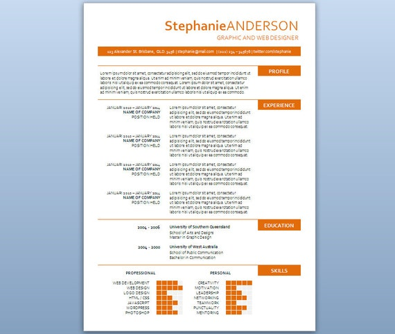 modern microsoft word resume template stephanie by inkpower