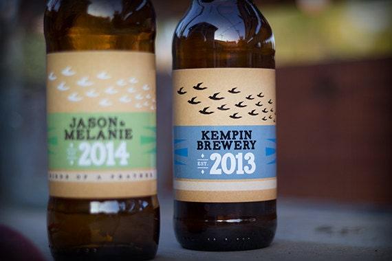 Bottle Labels Personalized for Homebrew or Moonshine Birds