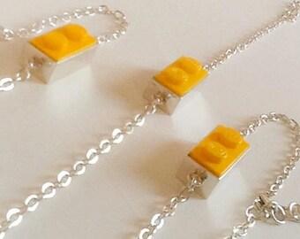 Handmade Sterling silver Lego bracelet.