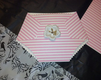 4 Handmade Paper Diaper Cards - Customizable