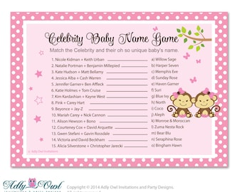 Baby name 4 baby girl names guessing game new items similar to girl minnie mouse celebrity name game urmus Image collections