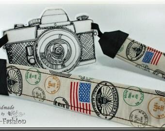 Camera strap - Globetrotter - camerastrap, light brown, vintag, photography DSLR