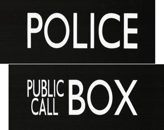 image about Tardis Sign Printable named 35 Law enforcement BOX Indication PRINTABLE