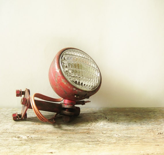 Antique Tractor Headlight Orig Glass & Mounting By