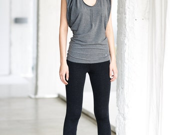 Arya Yoga Grey Top/ Yoga Top/ Racer Back Tank Top by AryaSense