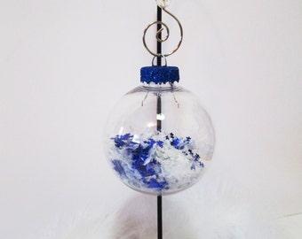Snowflake Ornament/ Christmas Ornament/ Winter Holiday Ornament/ Handmade Christmas Ornament/ Winter Wedding Gift/ Blue Holiday Ornament