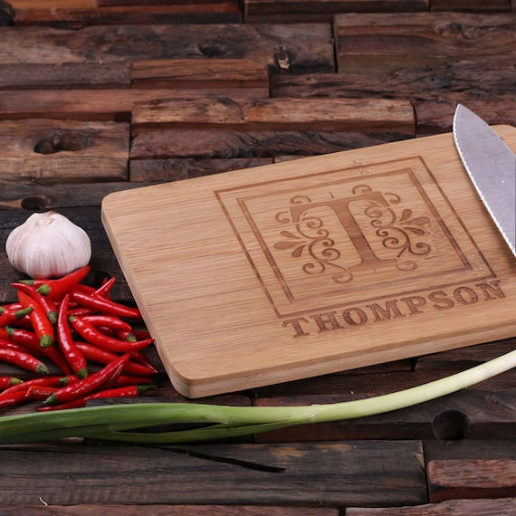 Personalized wood cutting chopping board engraved and - Engraved wooden chopping boards ...