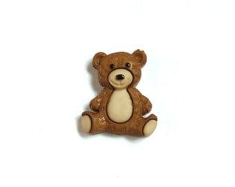 Teddy Bear - Snuggle - Hug - Safe - Protect - Childhood - Stuffed Animal - Lapel Pin