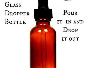 Amber Glass Bottle with Dropper - 4oz - Glass Dropper - Empty Glass Bottle with Dropper - Amber Dropper Bottle - Amber Glass Dropper Bottle