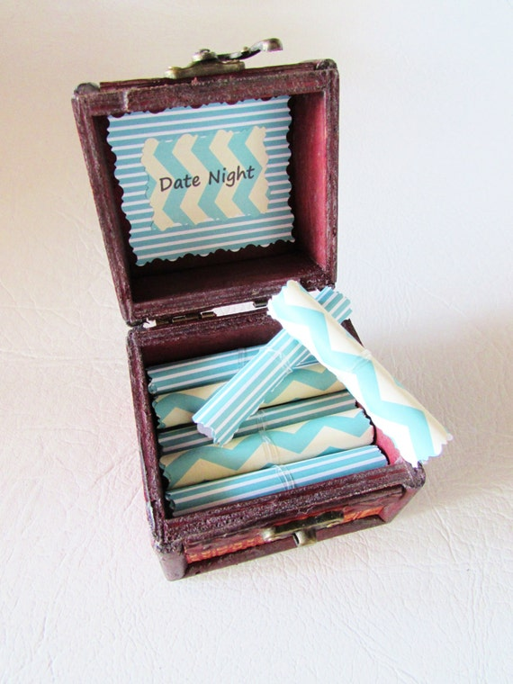 Date Night Scroll Box, Fun Date Ideas in Wood Box, Boyfriend, Husband, Girlfriend, Wife, Anniversary, Birthday, Christmas, Personalized