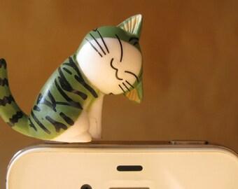 X036- Chi Kitty (A) Cell Phone Dust Plug, dust plug, Cell Phone Charm, Headphone plug , Headphone jack plug , iphone dust plug, Iphone charm