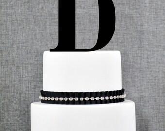 Letter D - Initial Cake Topper, Monogram Wedding Cake Topper, Custom Cake Topper
