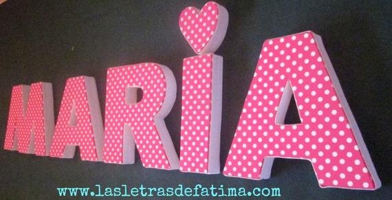 Art culos similares a letra decorativa para colgar en la - Letras decorativas pared ...