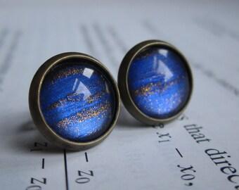 Asteroid  - Earring studs - science jewelry - science earrings - galaxy jewelry - physics earrings - fake plugs - plug earrings