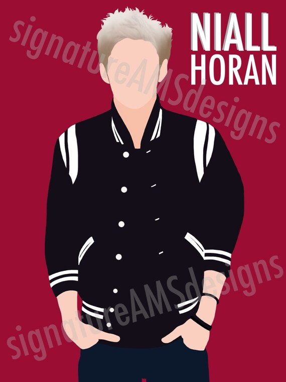 Minimalist Digital Artwork of ONE DIRECTION Band Member, Niall Horan. ( 11.7x16.5 inches / A3 )