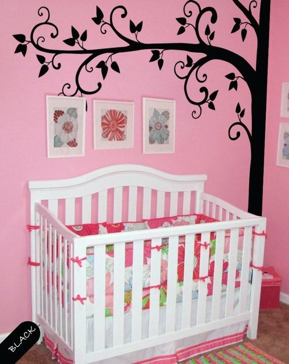 Creative nursery wall decor : Tree wall decal creative nursery corner baby