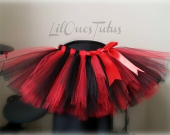 Black And Red TUTU Skirt With Bow