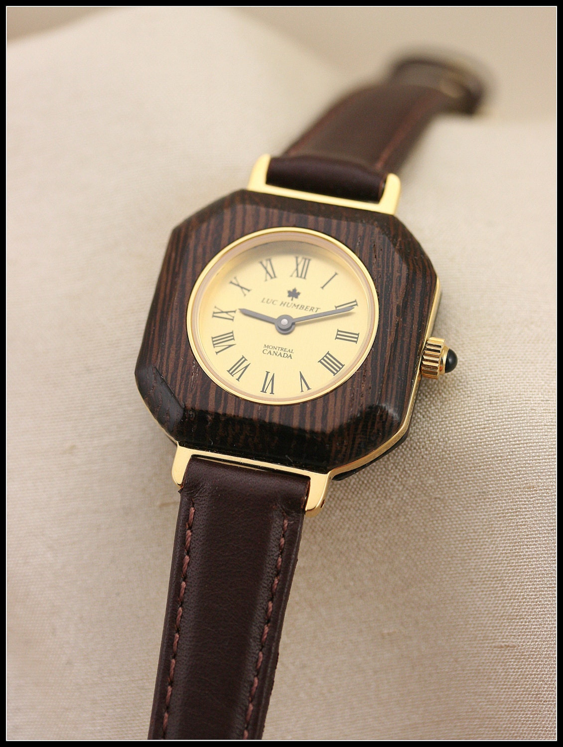 square watches gold square brown wood watches