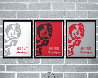 Special Edition Ohio State Buckeyes Graphic Print - The Ohio State University Brutus Logo Poster