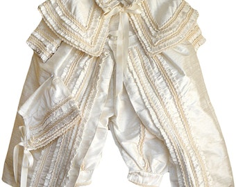 Heirloom Baby Boy Christening Gown, Hand Made baptism outfit for boy, Model B003 Burbvus