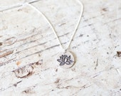 Lotus Necklace -  lotus flower necklace silver lotus flower necklace yoga necklace flower necklace flower pendant lotus pendant yoga charm