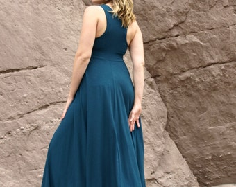 Lilliana ~ Full Length Racer Back Dress ~ Bamboo & Organic Cotton ~ Made to Order