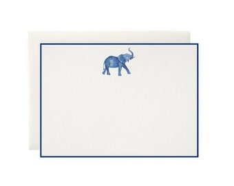 Patterned Elephant Note Cards