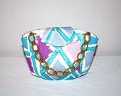 EMILIO PUCCI Vintage Handbag Tote Silk Chain Link Evening Bag - AUTHENTIC -