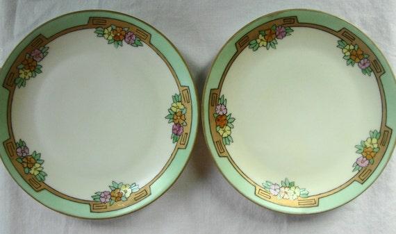 2 antique bavarian art nouveau dessert plates by poppycbrilliant. Black Bedroom Furniture Sets. Home Design Ideas