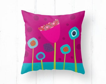Flowers for a decorative pillow cover, colourful flowers, cushion cover, decorative throw pillow, pillowcase, pillows, bedding, room decor