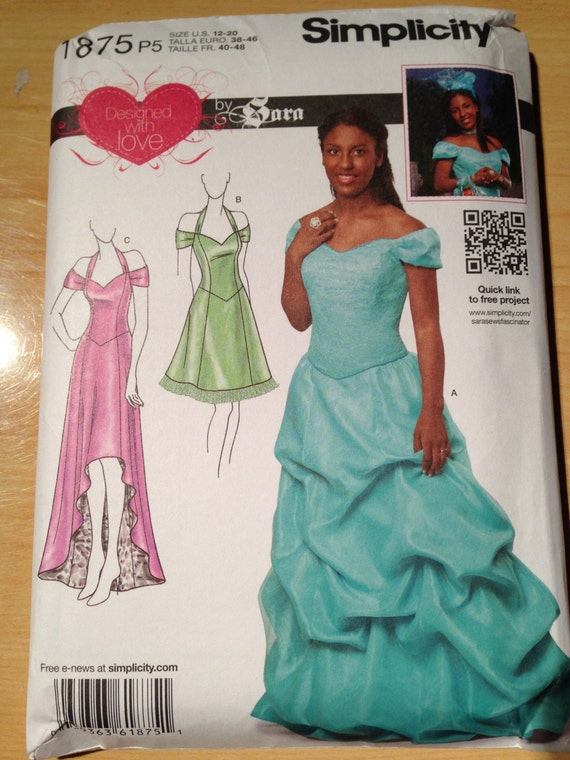 Simplicity Sewing Pattern 1875 Misses Special Occasion Dress Size 12-20