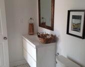 Rustic Wall Mirror - Large Wall Mirror - 30 x 36 Vanity Mirror - Bathroom Mirror - Rustic Mirror - Reclaimed Wood Mirror - Bathroom Vanity