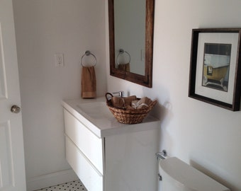 Rustic Wall Mirror Large 42 X 30 Vanity