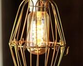 Vintage Bronze Cage Light