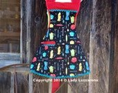 Retro Inspired Apron, Vintage Appliances