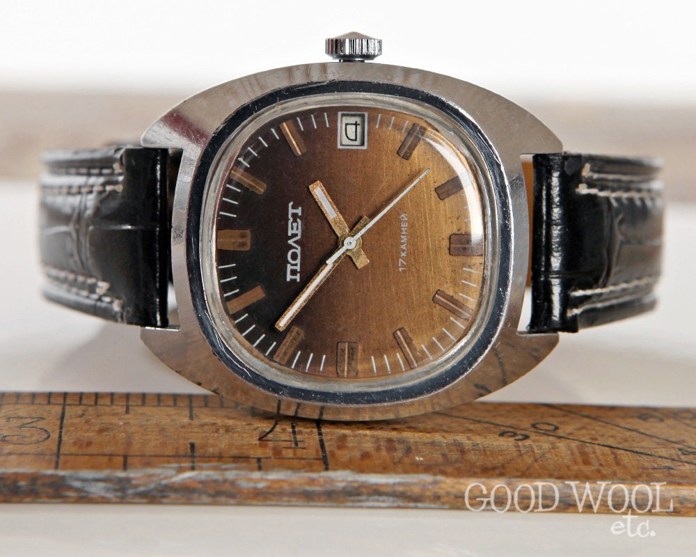 Vintage russian poljot watch us seller 1970 39 s for Foljot watches