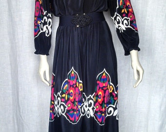 Vintage 60's Accordian Pleat Moroccan Dress