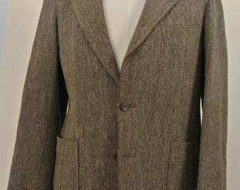 1970's Magee Donegal Brown Flecks 100% Wool Sport Coat Men's Size: 38S