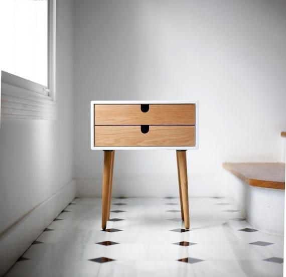 ... eeuw Scandinavian retro moderne met 1 0 2 lades en eiken houten poten