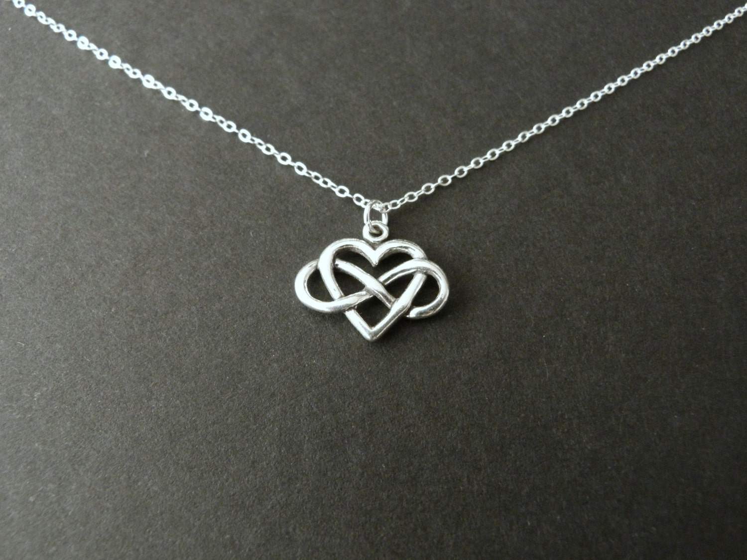 infinity heart necklace sterling silver jewelry always by. Black Bedroom Furniture Sets. Home Design Ideas