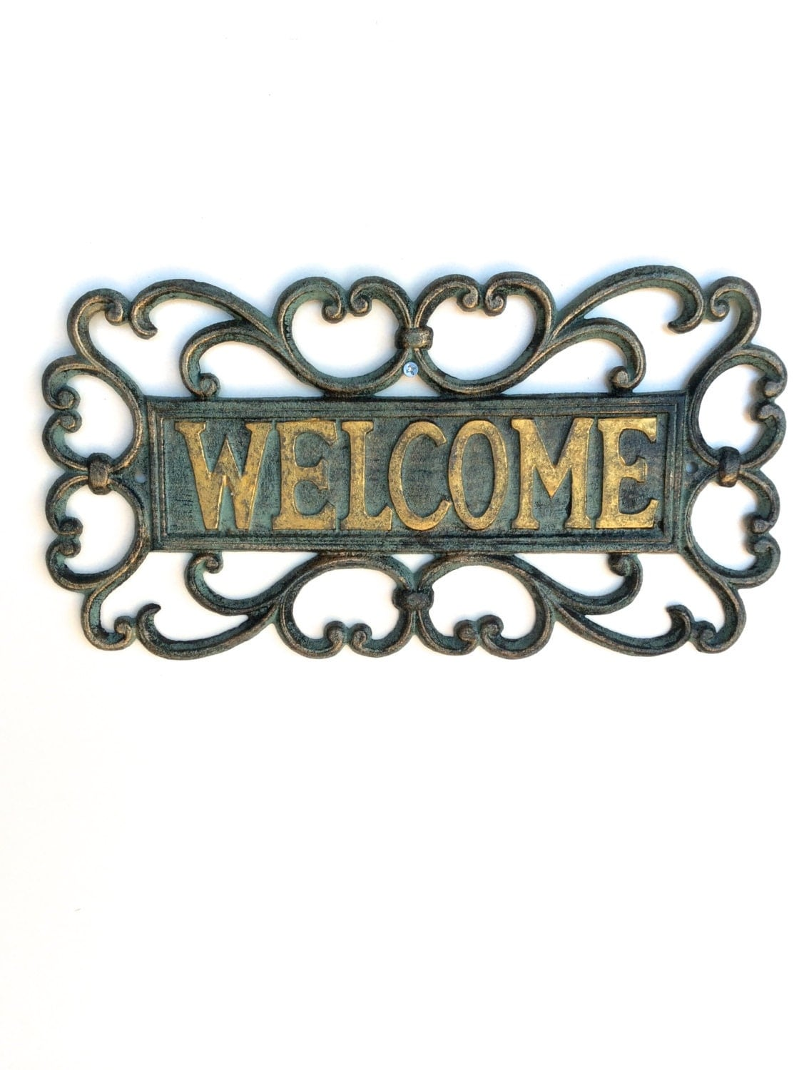 Garden sign garden welcome sign garden decor outdoor for Outdoor decorative signs