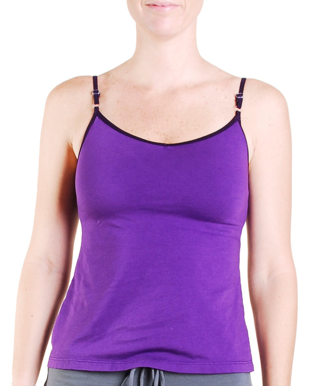 Yoga Tank Top Size Medium Vneck Cami With Built In By
