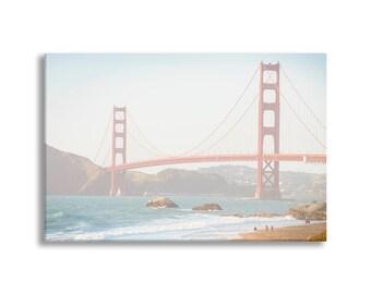 California Photo on Canvas, San Francisco, Golden Gate Bridge, Gallery Wrapped Canvas, Large Wall Art, Home Decor