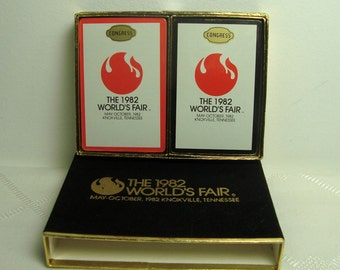 Worlds Fair Card Decks 1982 Sealed Souvenir Knoxville TN NIP