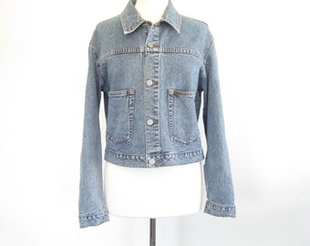 Calvin Klein Jean Jacket. Small - Medium. Vintage 90s Denim Jacket. Light Wash