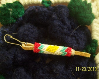 Hand Beaded Peyote Stitch Zipper Pull--Great Gift Idea!