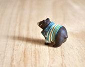 Miniature Black Bear Animal Figurine Sculpture, Animal Totem