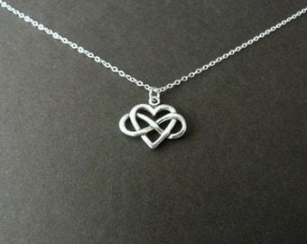 Infinity heart necklace, best seller jewelry, always charm, sterling silver, girlfriend gift