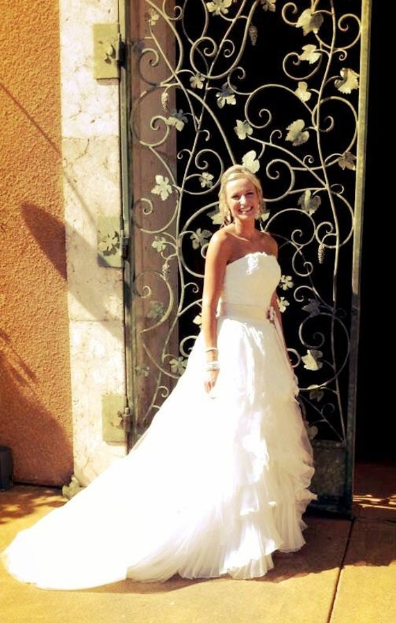 Rustic Wedding Dress Handmade To Your Measurements With French